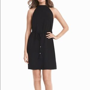 NWT WHBM Black Mock Neck Shift Dress